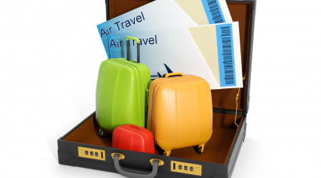 3d illustration: travel agent trips