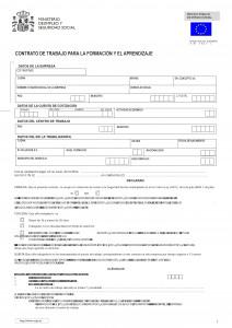 Contrato de formación