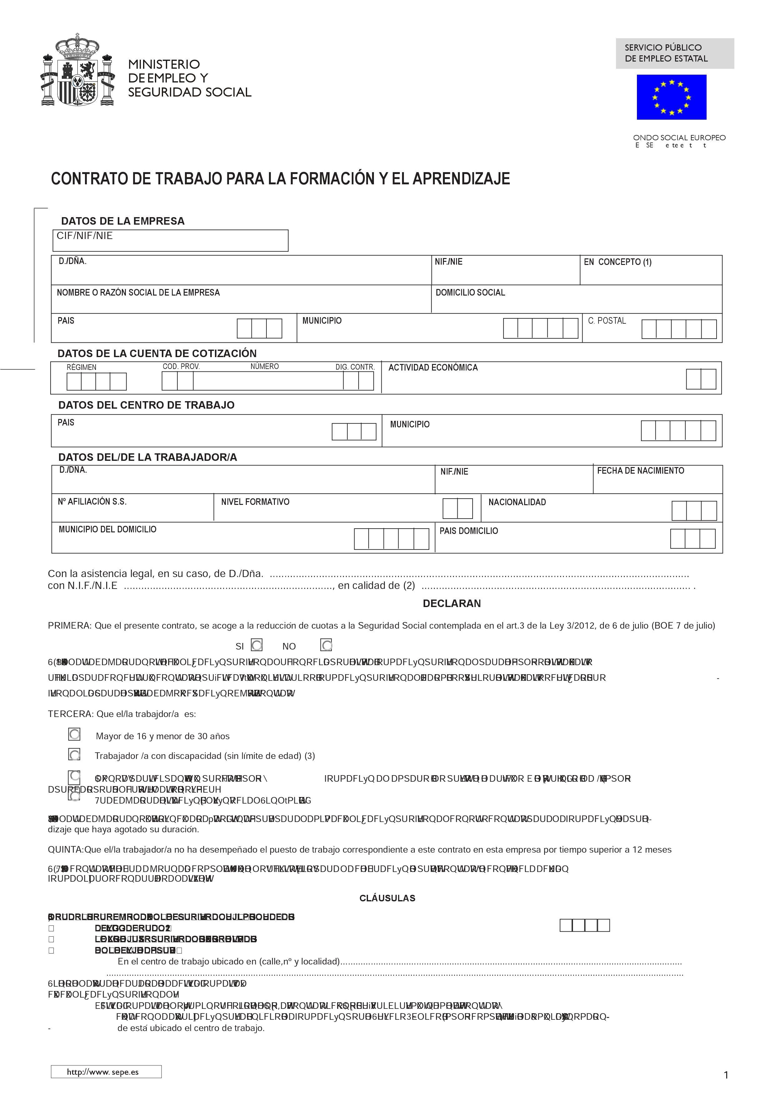 Contrato temporal empleadas de hogar 2016 contrato for Modelo contrato empleada de hogar indefinido